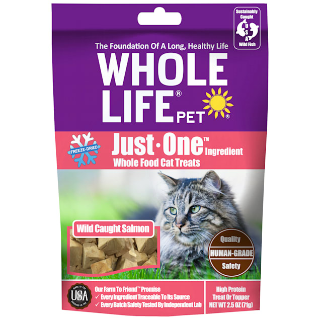 Whole Life Pet Pure Salmon Freeze-Dried Cat Treats, 2.5 oz. - Carousel image #1