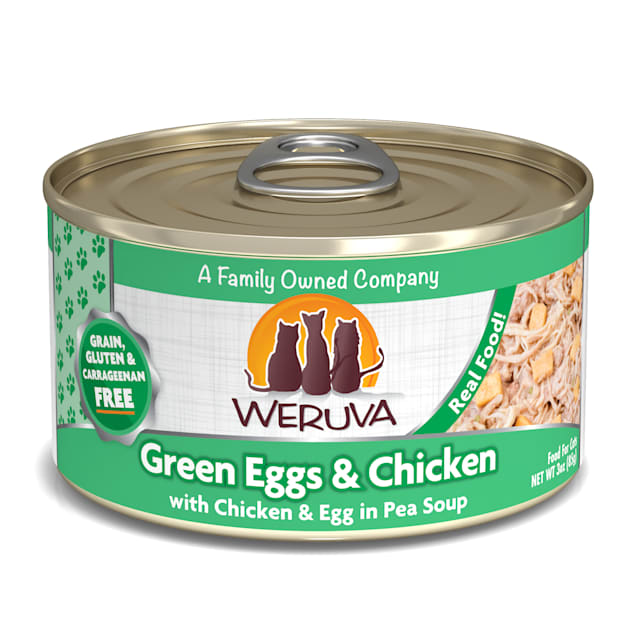 Weruva Classics Chicken, Egg & Greens in Pea Soup Wet Cat Food, 3 oz., Case of 24 - Carousel image #1