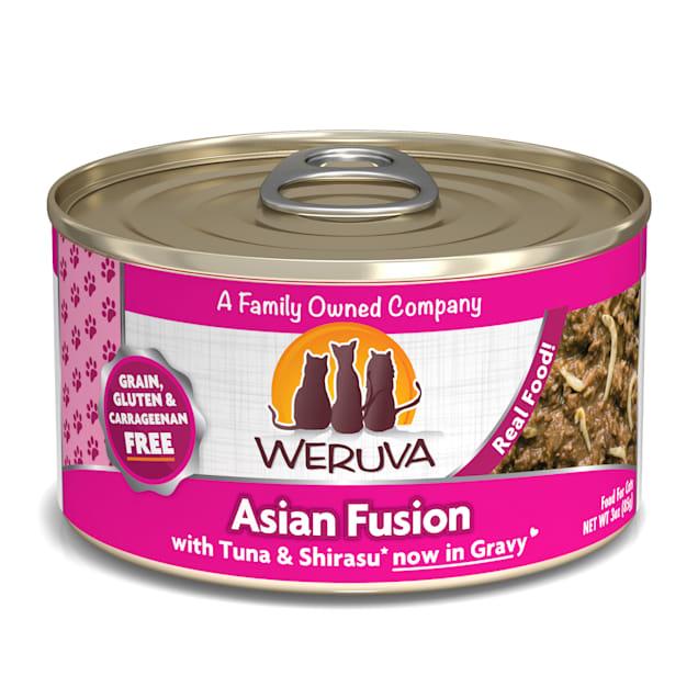 Weruva Classics Asian Fusion with Tuna & Shirasu in Gravy Wet Cat Food, 3 oz., Case of 24 - Carousel image #1