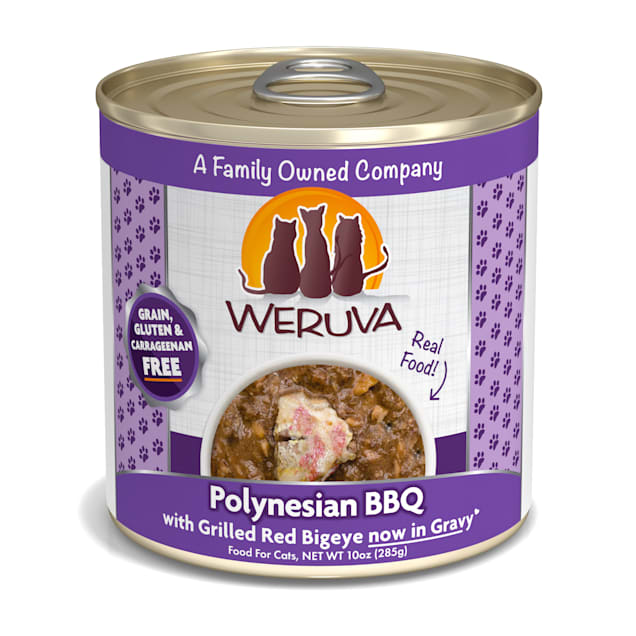 Weruva Classics Polynesian BBQ with Grilled Red Bigeye in Gravy Wet Cat Food, 10 oz., Case of 12 - Carousel image #1