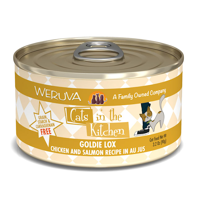 Cats in the Kitchen Originals Goldie Lox Chicken and Salmon Recipe Au Jus Wet Cat Food, 3.2 oz., Case of 24 - Carousel image #1