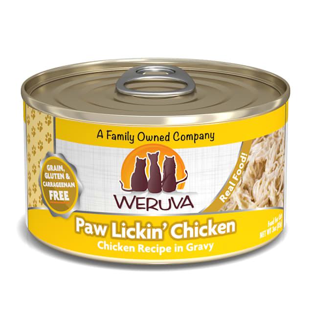 Weruva Classics Paw Lickin' Chicken Chicken Recipe in Gravy Wet Cat Food, 3 oz., Case of 24 - Carousel image #1