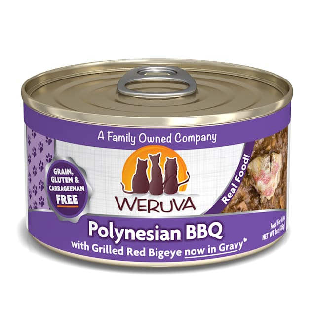 Weruva Classics Polynesian BBQ with Grilled Red Bigeye in Gravy Wet Cat Food, 3 oz., Case of 24 - Carousel image #1
