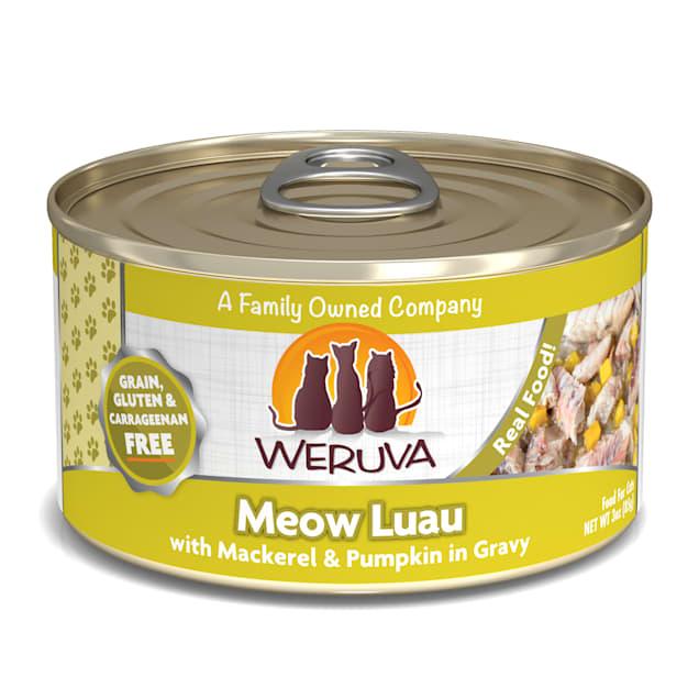 Weruva Classics Meow Luau with Mackerel & Pumpkin in Gravy Wet Cat Food, 3 oz., Case of 24 - Carousel image #1