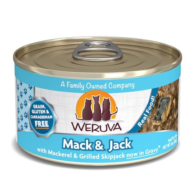 Weruva Classics Mack & Jack with Mackerel & Grilled Skipjack in Gravy Wet Cat Food, 3 oz., Case of 24 - Carousel image #1
