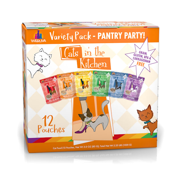 Cats in the Kitchen Pantry Party Variety Pack Wet Cat Food, 3 oz., Count of 12 - Carousel image #1