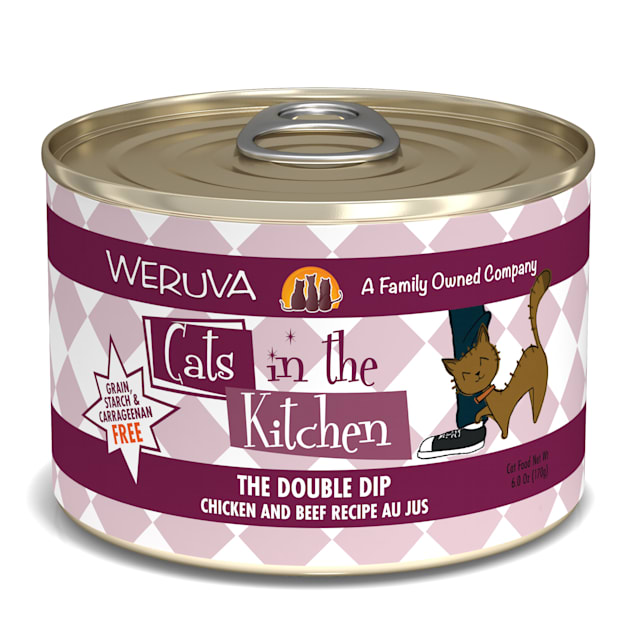 Cats in the Kitchen The Double Dip Chicken and Beef Recipe Au Jus Wet Cat Food, 6 oz., Case of 24 - Carousel image #1
