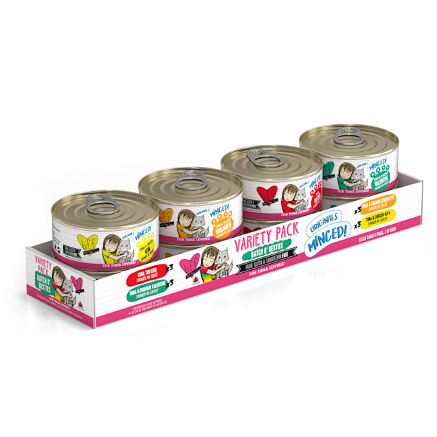 B.F.F. Originals Batch 'O Besties Variety Pack Wet Cat Food, 5.5 oz., Count of 8 - Carousel image #1