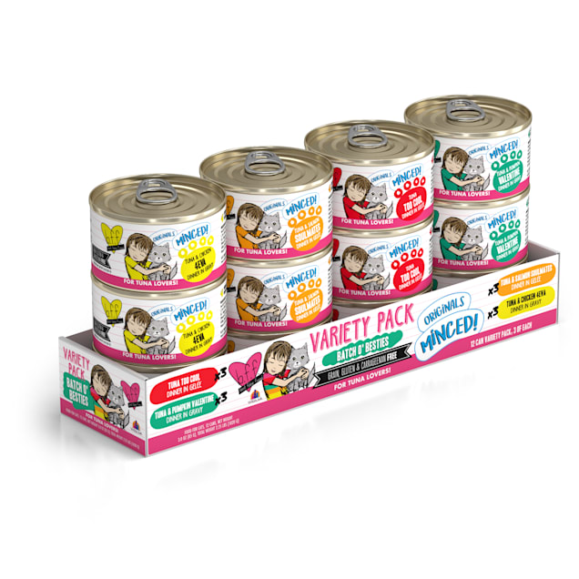 B.F.F. Originals Batch 'O Besties Variety Pack Wet Cat Food, 3 oz., Count of 12 - Carousel image #1