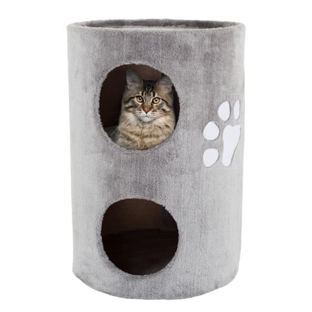 "PETMAKER 2 Level Double Hole Cat Condo, 20.5"" H - Carousel image #1"