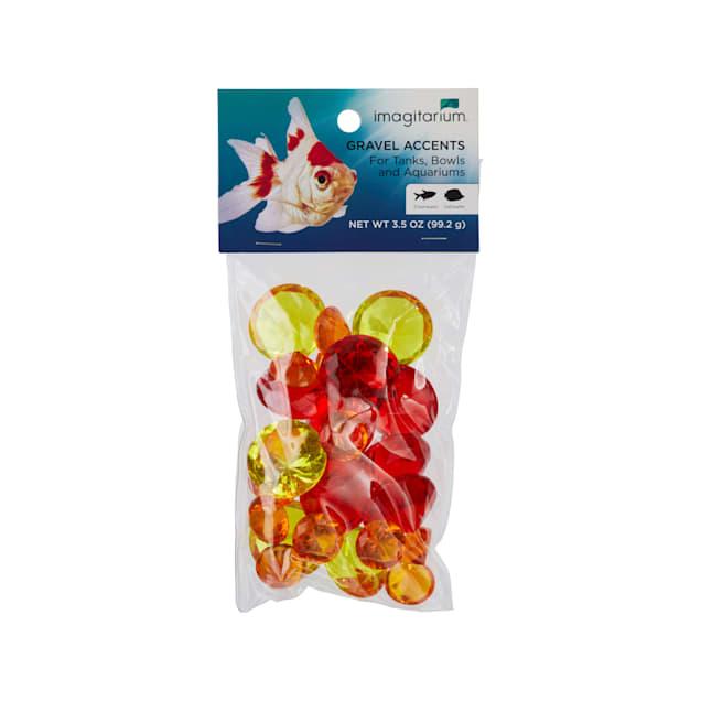 Imagitarium Red Gem Treasure Aquarium Gravel Accent Mix, 3.5 oz. - Carousel image #1