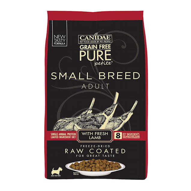 Canidae PURE Grain Free Petite Small Breed Limited Ingredient Diet with Fresh Lamb Freeze Dried Raw Coated Dry Dog Food, 10 lbs. - Carousel image #1