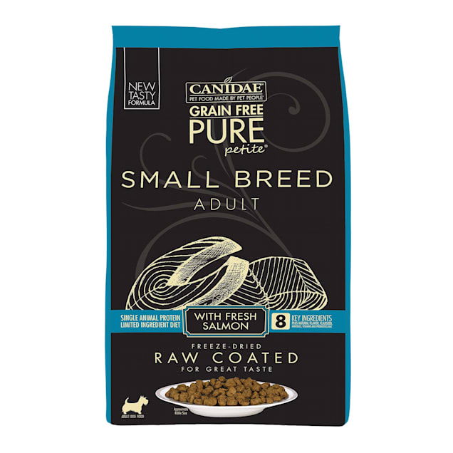 CANIDAE Grain Free PURE Petite Small Breed Adult Raw Coated with Fresh Salmon Dry Dog Food, 10 lbs. - Carousel image #1