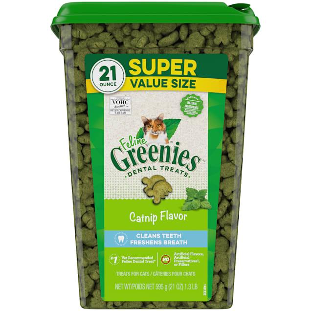 Greenies Catnip Dental Cat Treats, 21 oz. - Carousel image #1