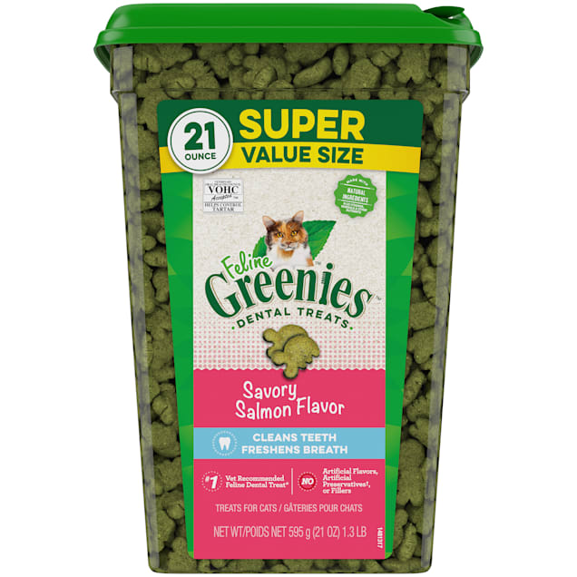 Greenies Savory Salmon Dental Cat Treats, 21 oz. - Carousel image #1