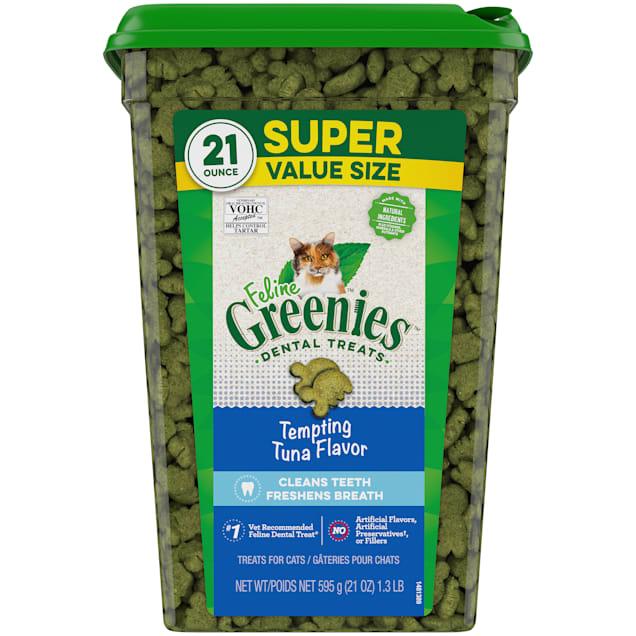 Greenies Tempting Tuna Flavor Dental Cat Treats, 21 oz. - Carousel image #1