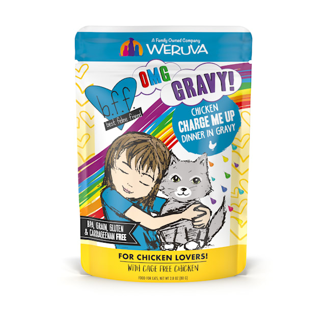 B.F.F. OMG Charge Me Up Chicken Dinner in Gravy Wet Cat Food, 2.8 oz., Case of 12 - Carousel image #1