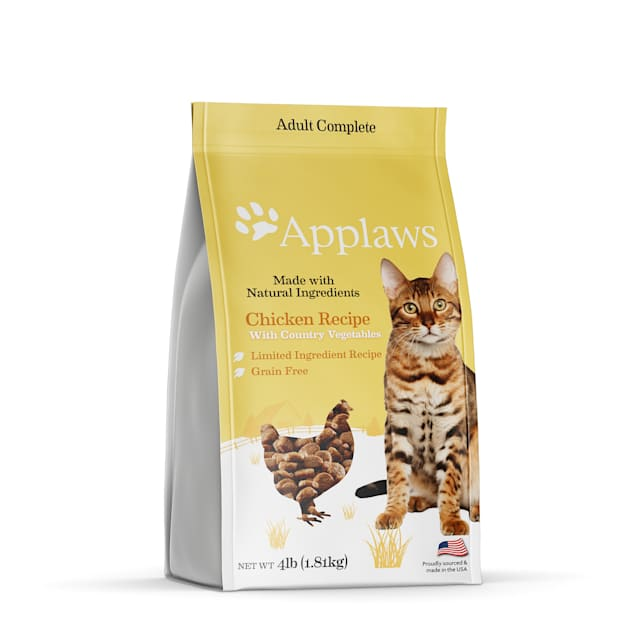 Applaws Complete & Balanced Grain Free Chicken Recipe with Country Vegetables Adult Dry Cat Food, 4 lbs. - Carousel image #1
