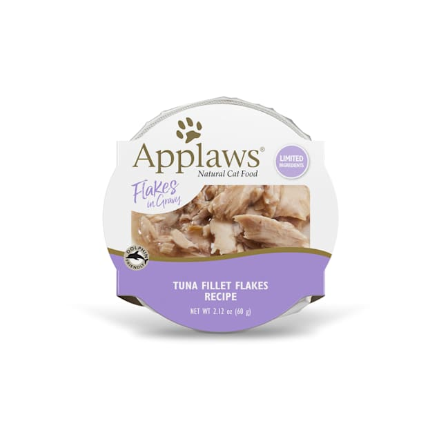 Applaws Natural Tuna Flakes in Gravy Wet Cat Food, 2.12 oz., Case of 18 - Carousel image #1