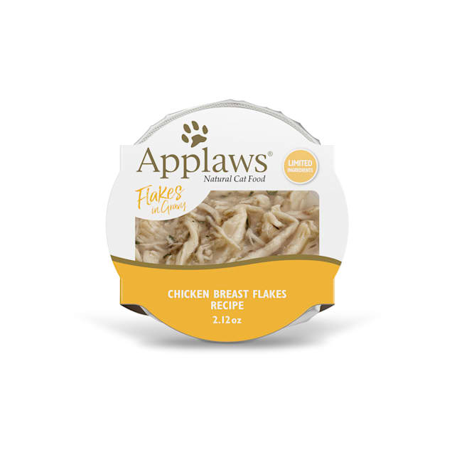 Applaws Natural Chicken Flakes in Gravy Wet Cat Food, 2.12 oz., Case of 18 - Carousel image #1