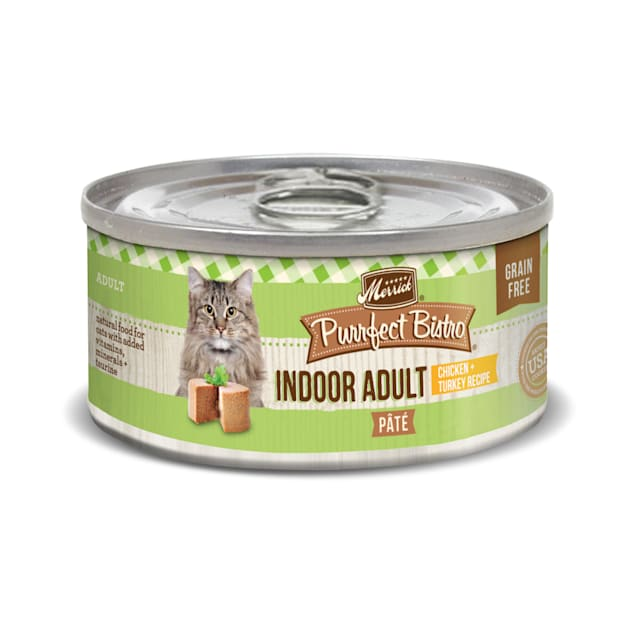 Merrick Purrfect Bistro Indoor Adult Chicken + Turkey Recipe Wet Cat Food, 3 oz. - Carousel image #1