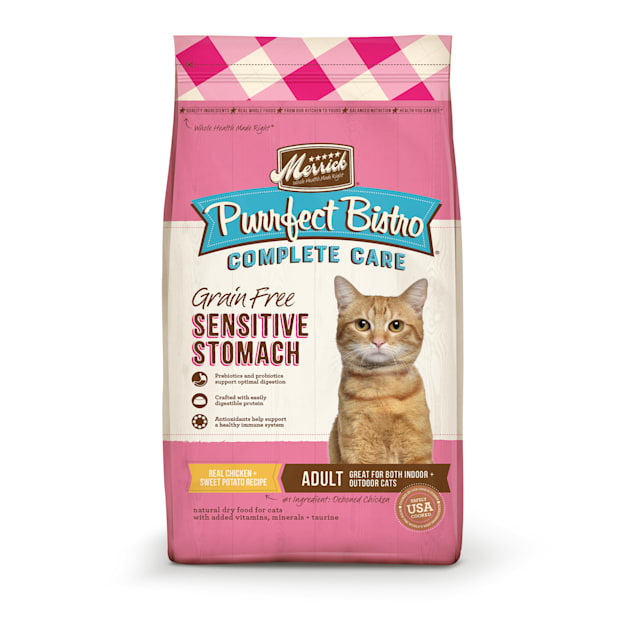 Merrick Purrfect Bistro Complete Care Sensitive Stomach Recipe Dry Cat Food, 12 lbs. - Carousel image #1