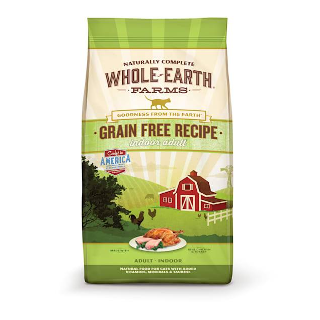 Whole Earth Farms Grain Free Indoor Adult Recipe Cat Dry Food, 10 lbs. - Carousel image #1
