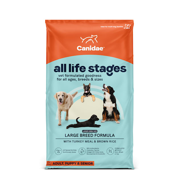 CANIDAE All Life Stages Large Breed Turkey Meal & Brown Rice Formula Dry Dog Food, 44 lbs. - Carousel image #1