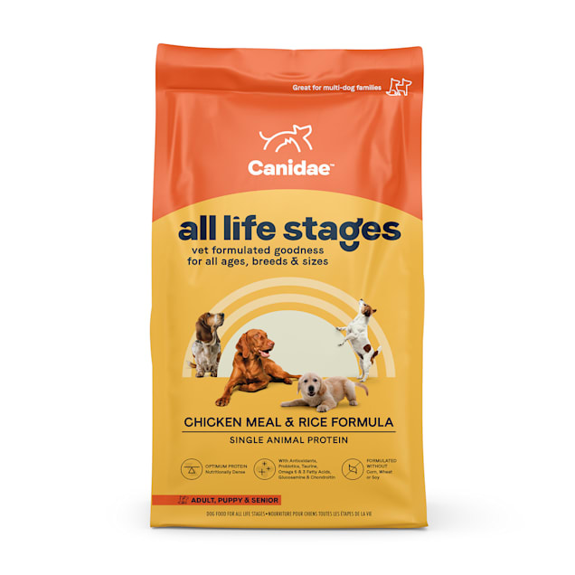 CANIDAE All Life Stages Chicken Meal & Rice Formula Dry Dog Food, 44 lbs. - Carousel image #1