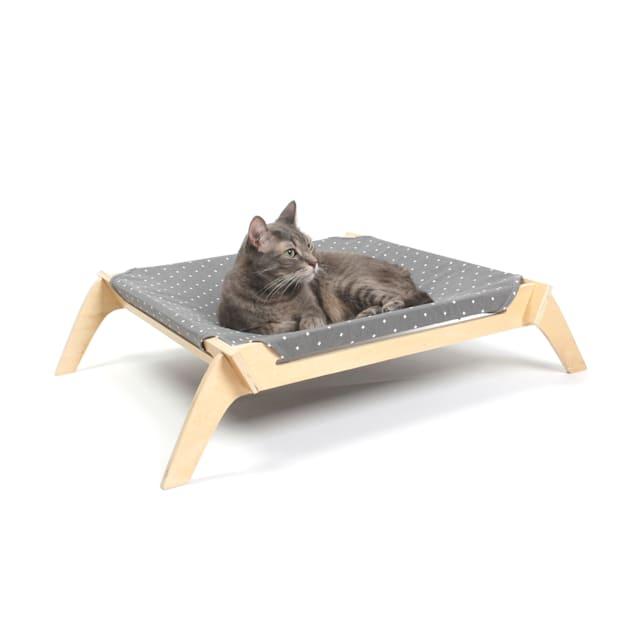 "Primetime Petz Designer Pet Lounge with Reversible Fabric Hammock Neutral Paint Spts/Crosses for Cats, 28.75"" L X 23"" W X 6.5"" H - Carousel image #1"