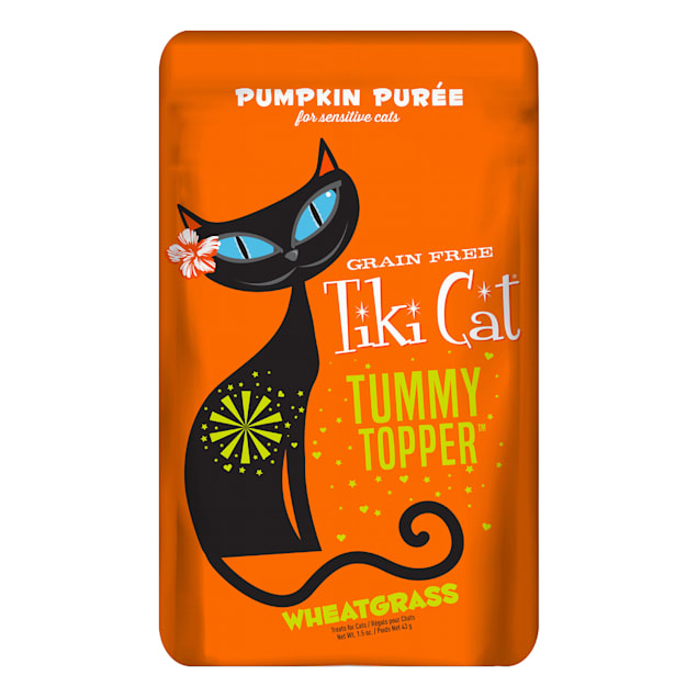 Tiki Cat Tummy Topper Pumpkin & Wheatgrass Cat Treat, 1.5 oz., Case of 12 - Carousel image #1