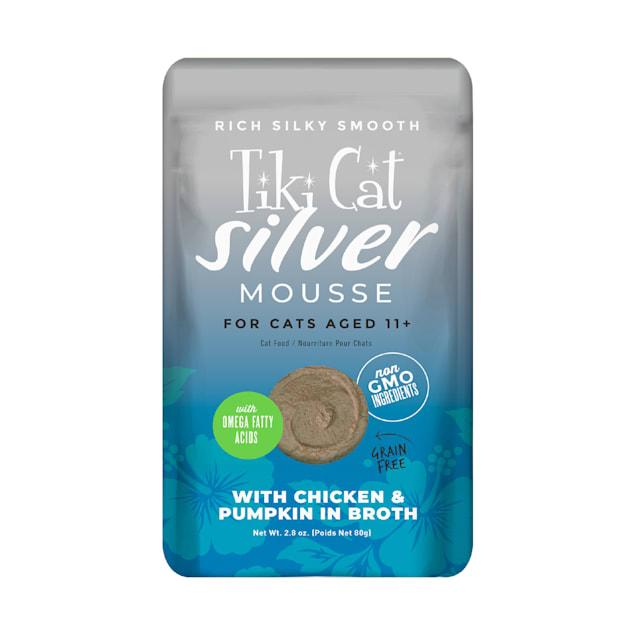 Tiki Cat Velvet Mousse Senior Chicken with Pumpkin Wet Cat Food, 2.8 oz., Case of 12 - Carousel image #1