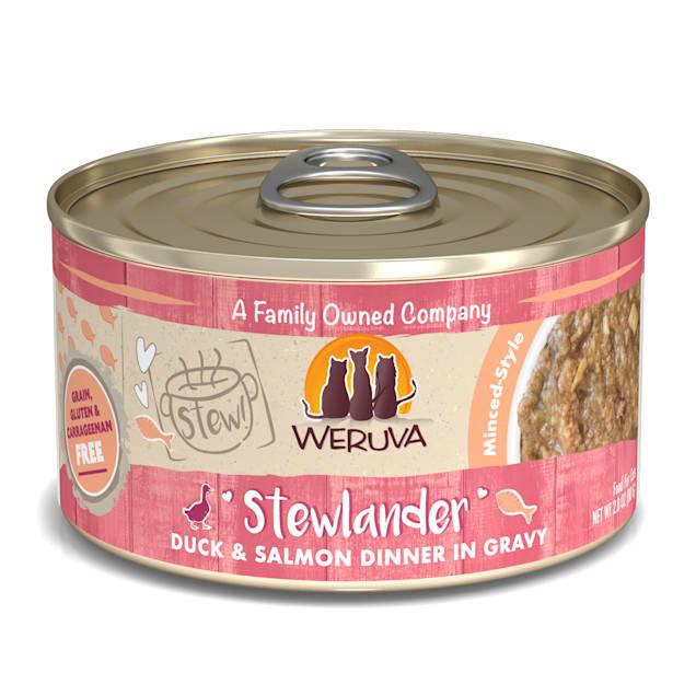 Weruva Stew! Stewlander Duck & Salmon Dinner in Gravy Wet Cat Food, 2.8 oz., Case of 12 - Carousel image #1