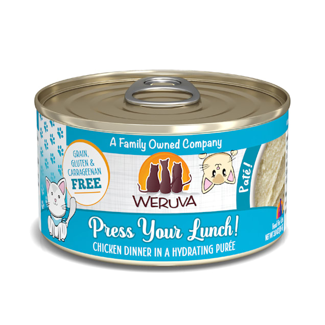Weruva Pate Press Your Lunch! Chicken Dinner in a Hydrating Puree Wet Cat Food, 3 oz., Case of 12 - Carousel image #1