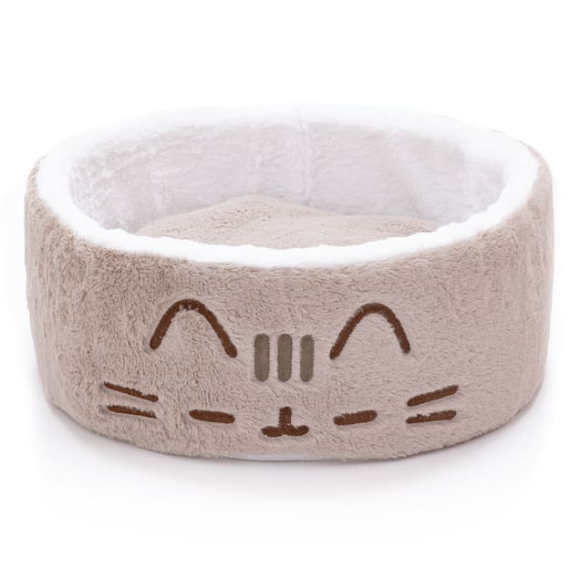 "Pusheen Sleepy Face Cuddling Grey Cat Bed, 18"" L X 18"" W X 6.5"" H - Carousel image #1"