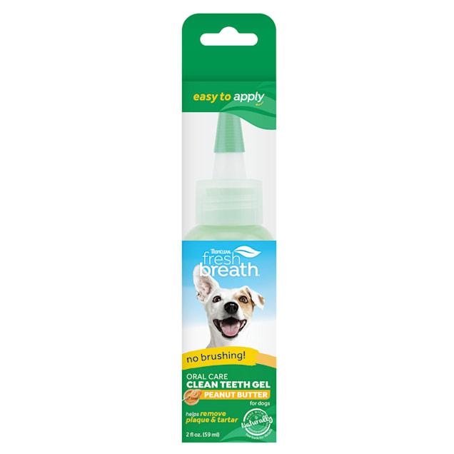 TropiClean Fresh Breath Clean teeth Oral Care Peanut Butter Gel for Dogs, 2 fl. oz. - Carousel image #1