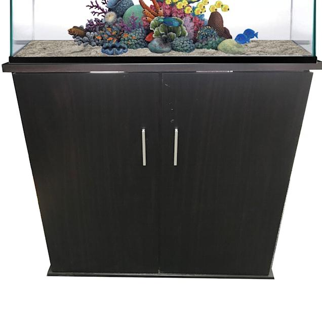 R&J Enterprises 36x18 Espresso Modern Aquarium Cabinet - Carousel image #1