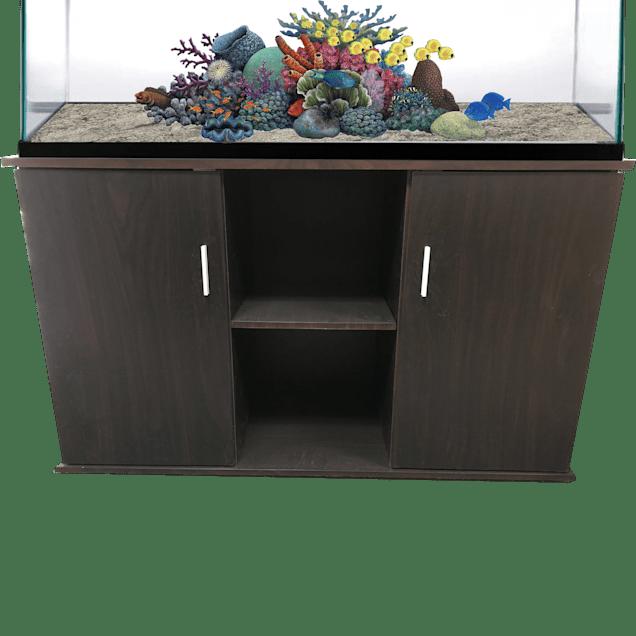 R&J Enterprises 48x18 Espresso Modern Aquarium Cabinet - Carousel image #1