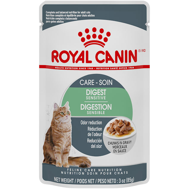 Royal Canin Digest Sensitive Chunks in Gravy Adult Wet Cat Food Pouch, 3 oz. - Carousel image #1