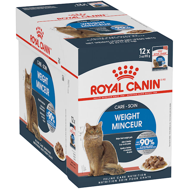 Royal Canin Feline Weight Care Chunks in Gravy Pouch Adult Wet Cat Food, 3 oz., Case of 12 - Carousel image #1