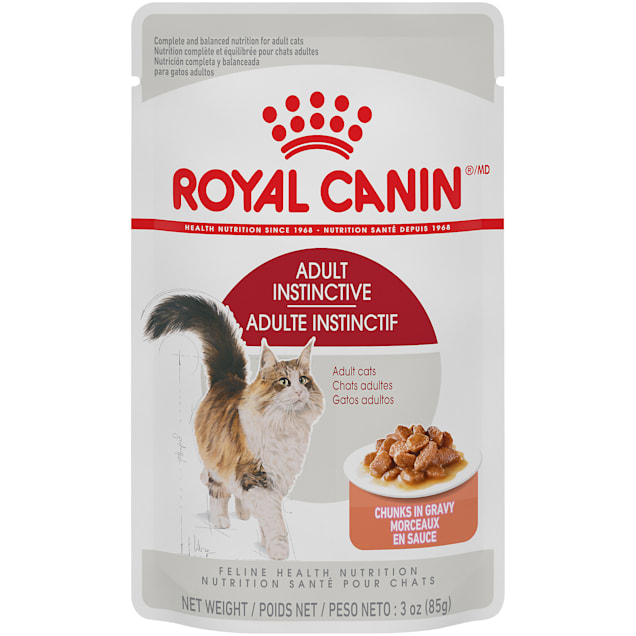 Royal Canin Adult Cat Instinctive Chunks in Gravy Wet Cat Food Pouch, 3 oz., Case of 12 - Carousel image #1