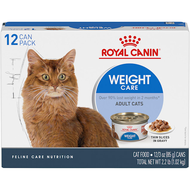Royal Canin Feline Weight Care Thin Slices in Gravy Canned Adult Multipack Wet Cat Food, 3 oz., Count of 12 - Carousel image #1