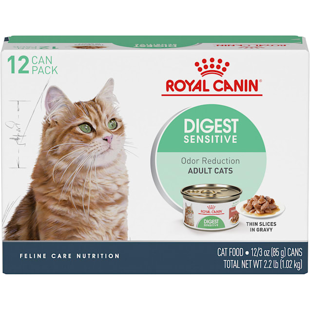 Royal Canin Feline Health Nutrition Digest Sensitive Thin Slices In Gravy Wet Cat Food Multipack, 3 oz., Count of 12 - Carousel image #1