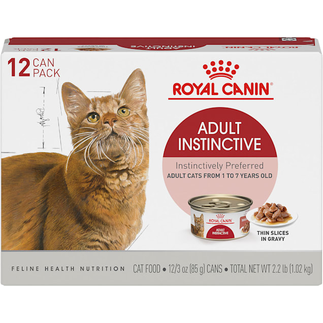 Royal Canin Adult Instinctive Thin Slices in Gravy Wet Cat Food Multipack, 3 oz., Count of 12 - Carousel image #1