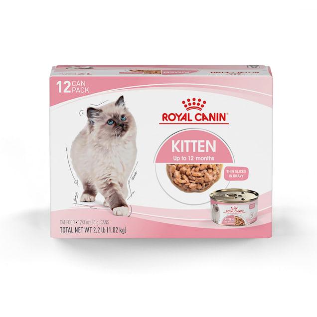 Royal Canin Feline Health Nutrition Thin Slices in Gravy Wet Kitten Food, 3 oz., Count of 12 - Carousel image #1
