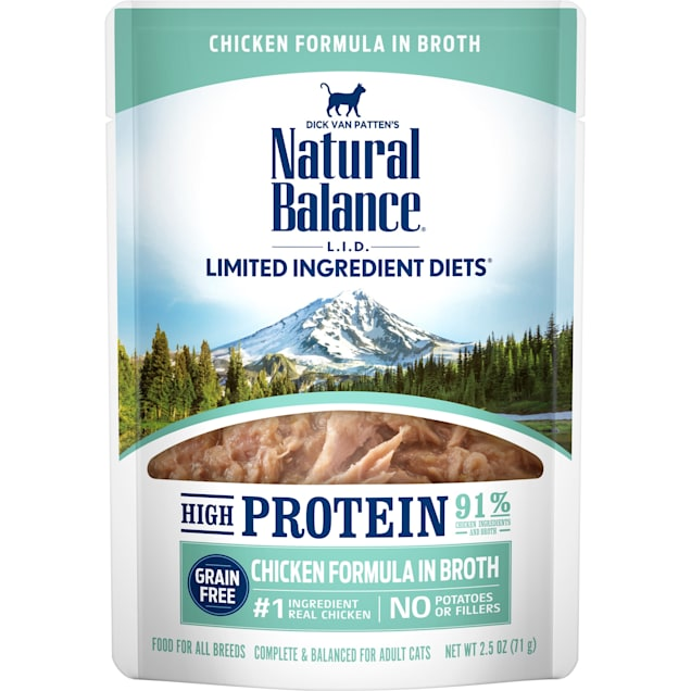 Natural Balance L.I.D. High Protein Chicken Formula in Broth Wet Cat Food, 2.5 oz., Case of 24 - Carousel image #1