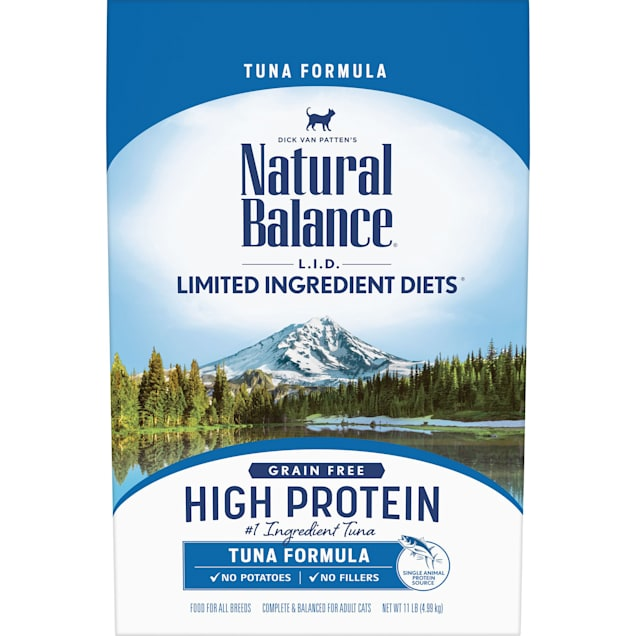 Natural Balance L.I.D. High Protein Tuna Formula Adult Dry Cat Food, 11 lbs. - Carousel image #1