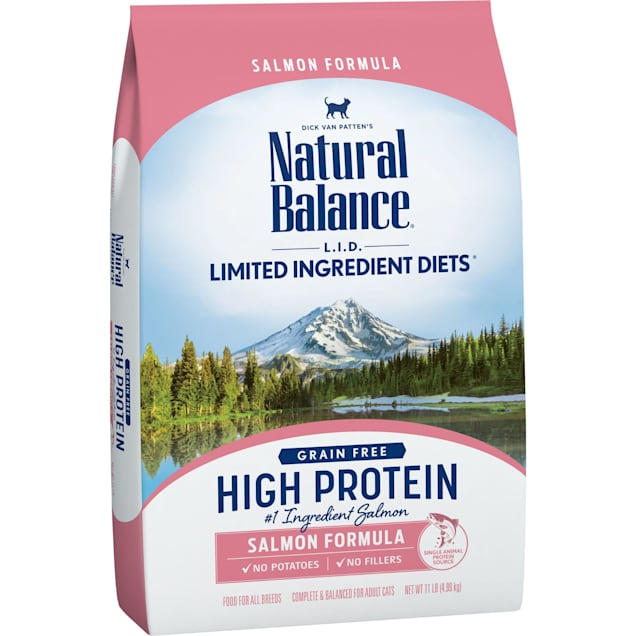 Natural Balance L.I.D. High Protein Salmon Formula Adult Dry Cat Food, 11 lbs. - Carousel image #1