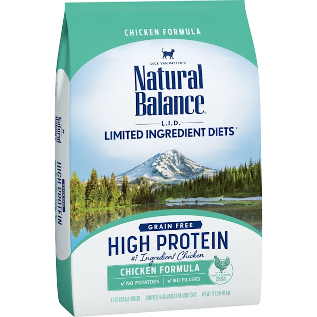 Natural Balance L.I.D. High Protein Chicken Formula Adult Dry Cat Food, 11 lbs. - Carousel image #1