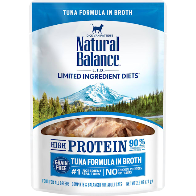 Natural Balance L.I.D. High Protein Tuna Formula in Broth Wet Cat Food, 2.5 oz., Case of 24 - Carousel image #1